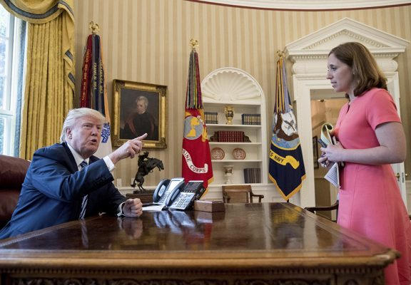 President Trump And Julie Pace 1024